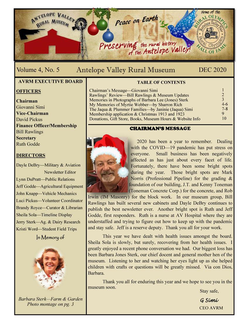 Newsletter Dec Vol.4, No.5