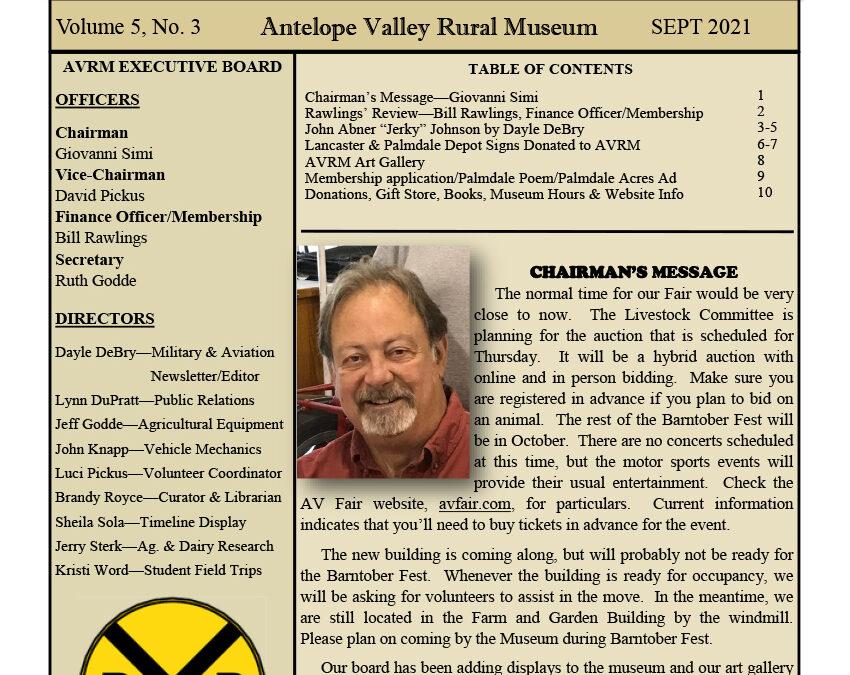 Newsletter Sept Vol.5, No.3