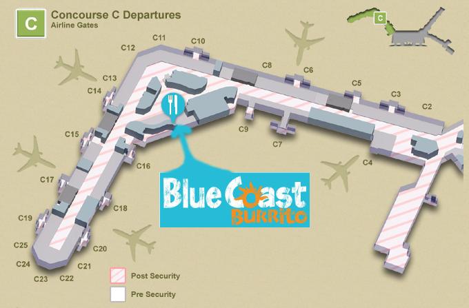 Blue Coast Nashville Airport Map
