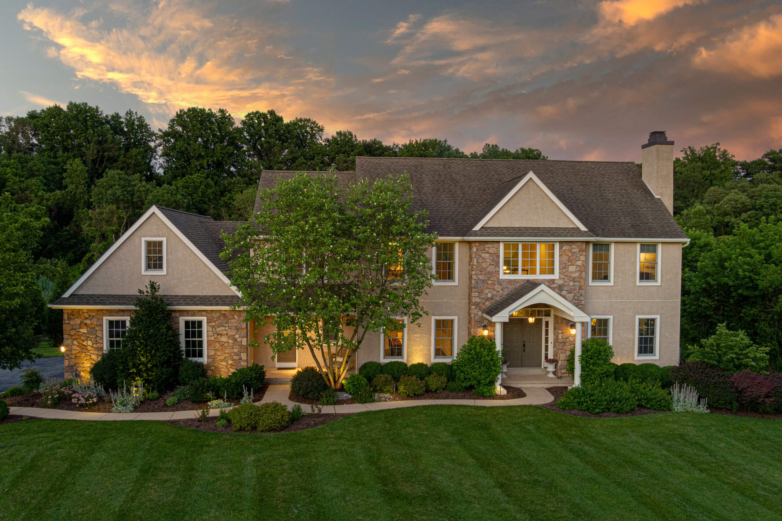 Twilight Photography of Chester County Real Estate