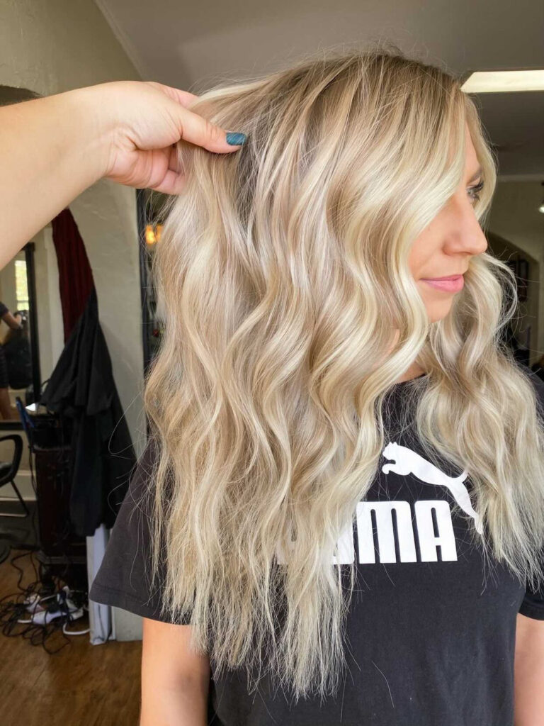 Platinum blonde with lowlights the perfect fall hair