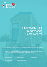 Tiny Houses Research Cover