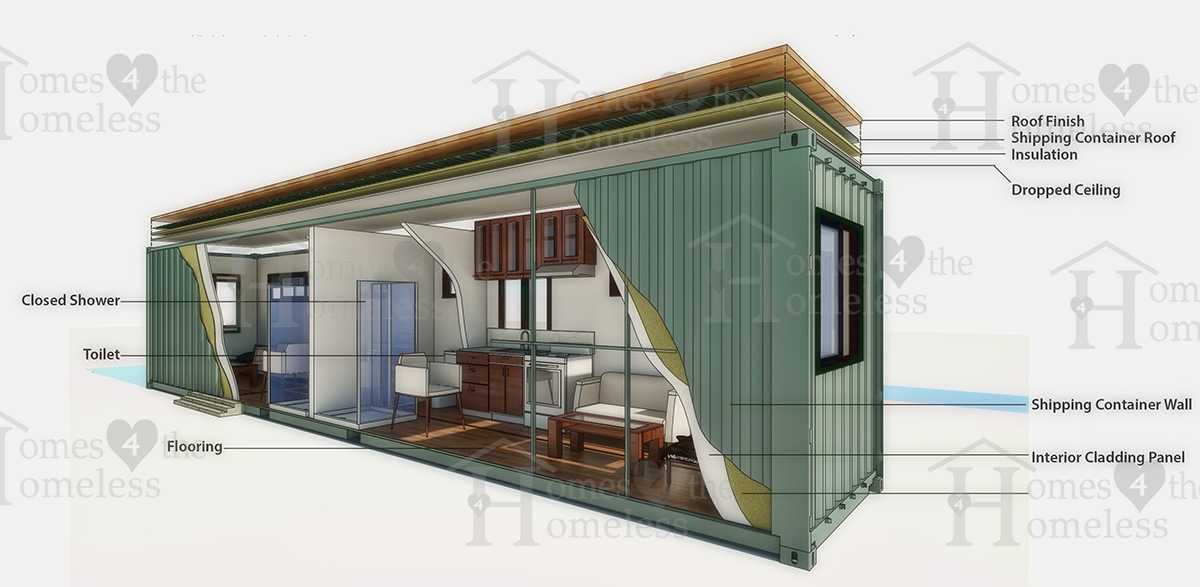 cutout container home 4 homelessness module