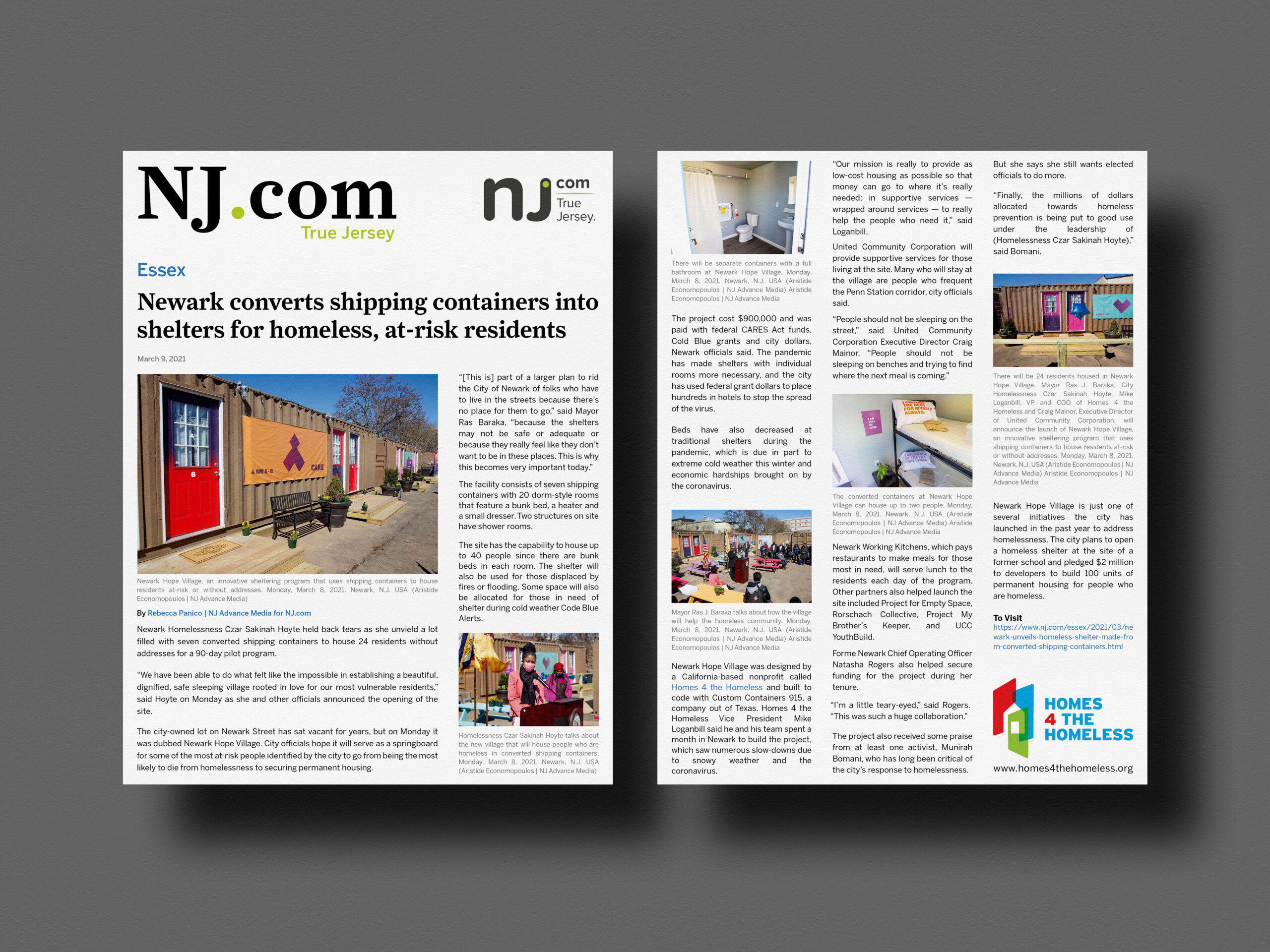 NJ.com Essex Edition March 8, 2021 2-page article with several photos