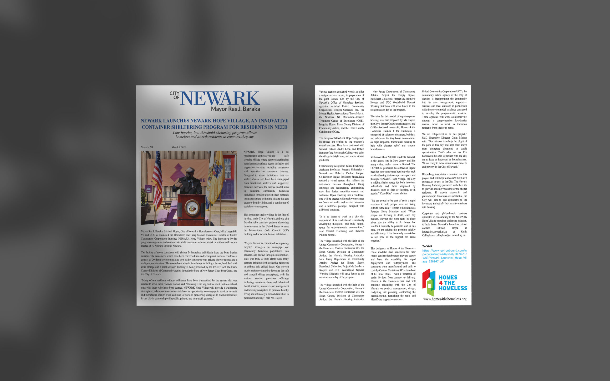 City of Newark, New Jersey Press Release March 8, 2021