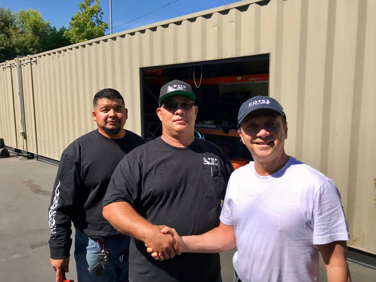 Steve Schneider with the WELD=N=THINGZ INC. Crew