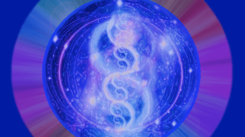 A blue color representation of Unity Field Healing Ancient Sirian/Arcturian Healing Template