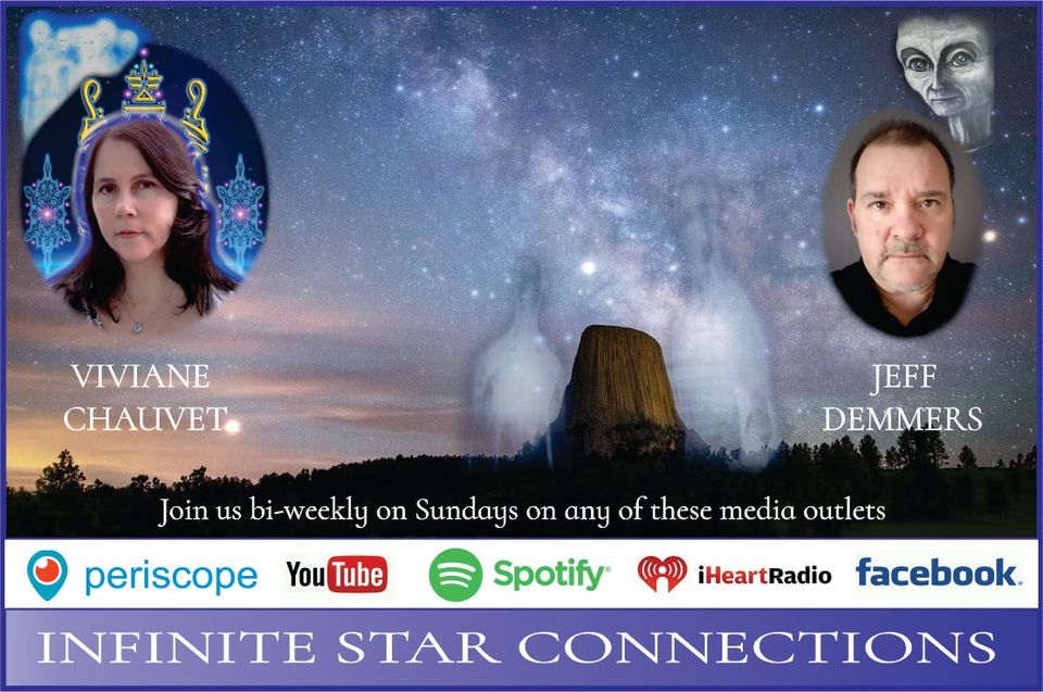 Banner showing Viviane and Jeff's Infinite Star Connections Podcast