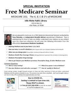 Free Medicare Seminar @ Main Library (Ville Platte)