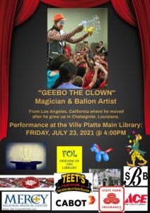 Geebo the Clown @ Ville Platte Main Library