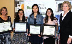 Alexis D'Alessandro, Tiffany Kim, and Victoria Sacchetti.  Photo Credit: Ms. Ievolo