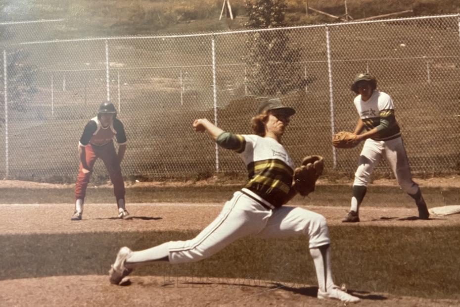 Bill Leesman, author, pitcher