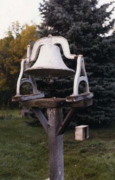 An old farm bell