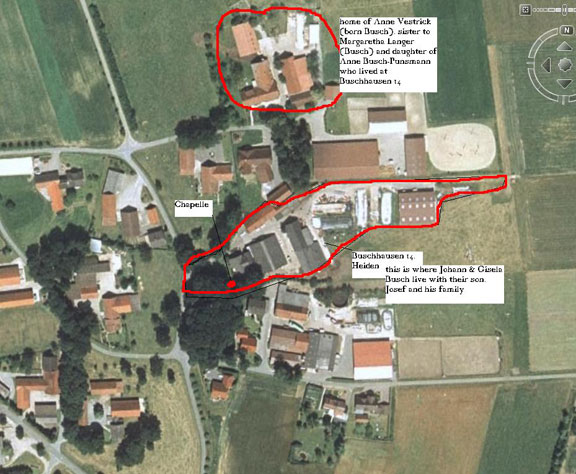 An overhead view of the property