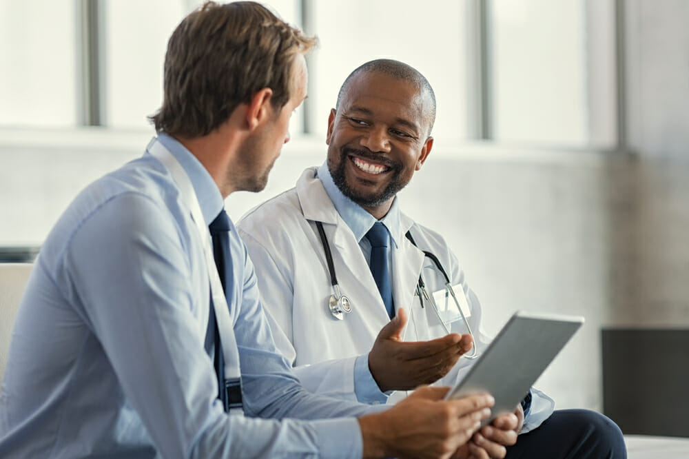 doctor reviewing medical options with a patient