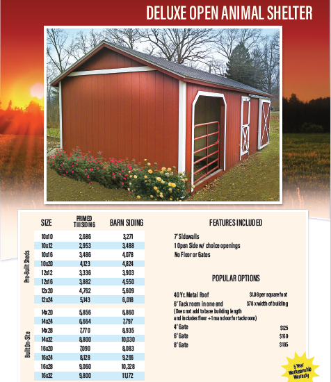 Horse Barn Shed