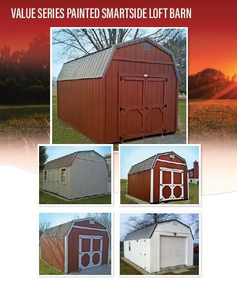 Painted Smartside Loft Barn