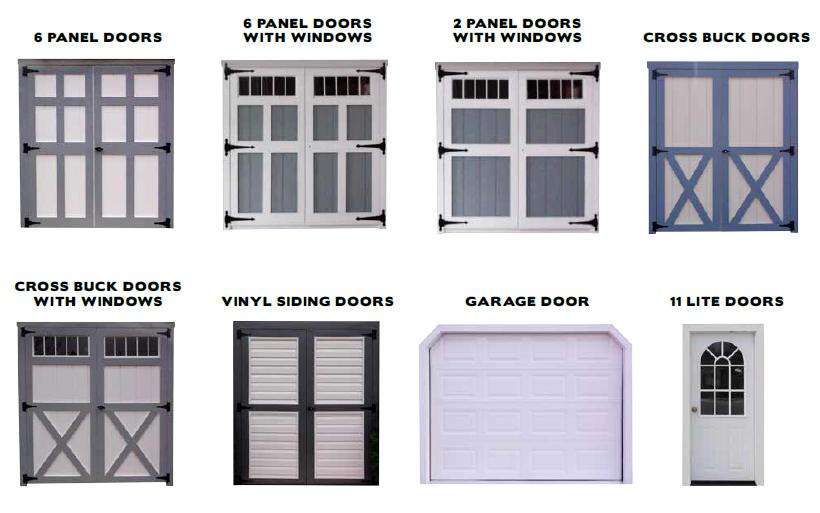 Custom Storage Shed Door Options