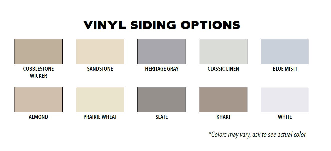 Custom Shed Vinyl Siding Options