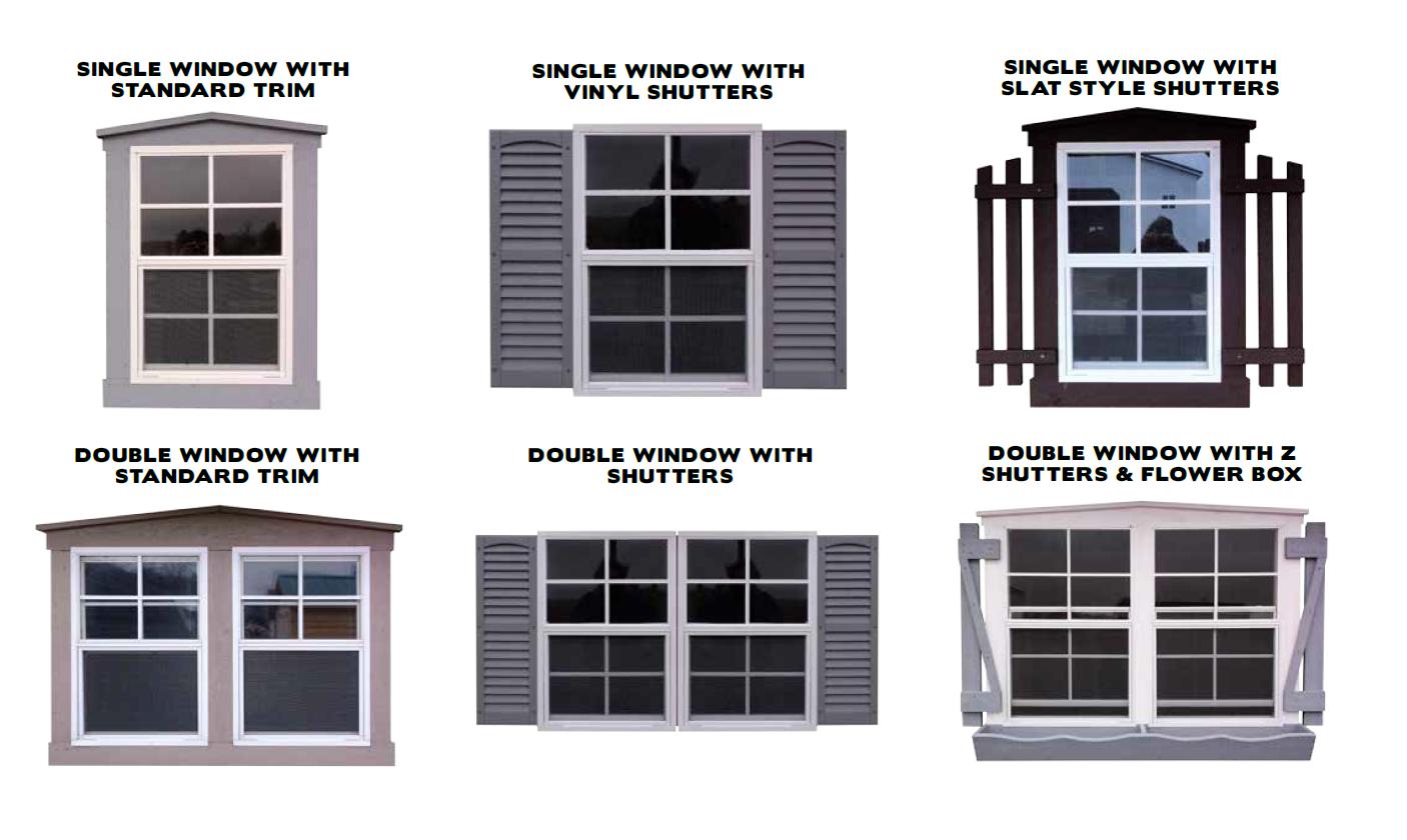 Window Options for Custom Sheds