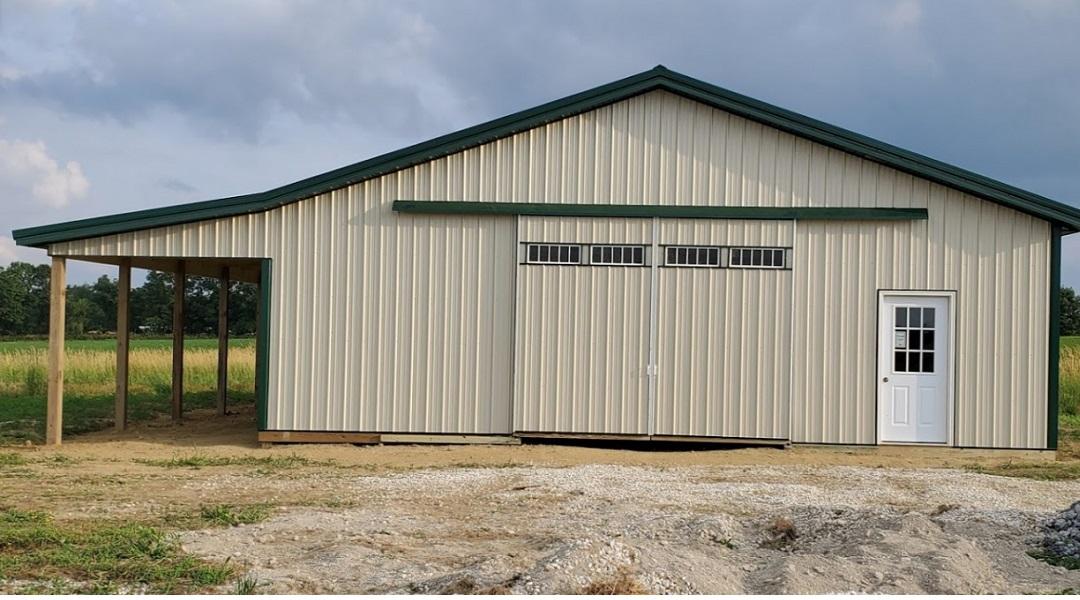 Amish Built Pole Barns Horse Barn Lean-To