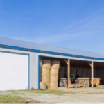 Pole Barn for Hay Storage and Livestock