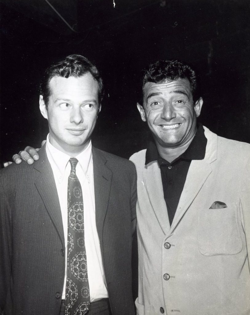 Paul R. Catalana with The Beatles manager Brian Epstein, 1964. Photograph provided courtesy of Lynn Catalana.