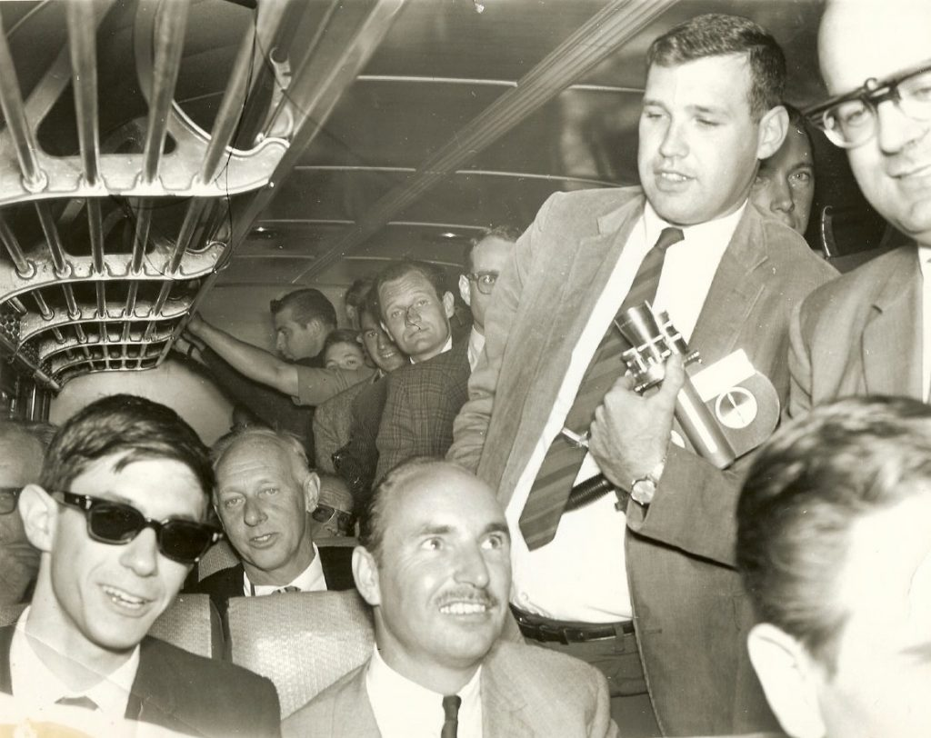 Press bus,1965 Photograph provided courtesy of Lynn Catalana.