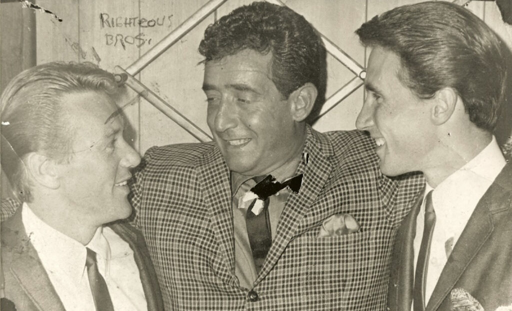 Paul R. Catalana with The Righteous Brothers at the Safari Room, circa 1964. Photograph provided courtesy of Lynn Catalana.