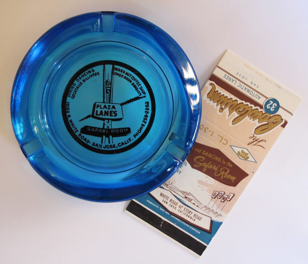 Safari Room matchbook and ashtray, circa 1965.