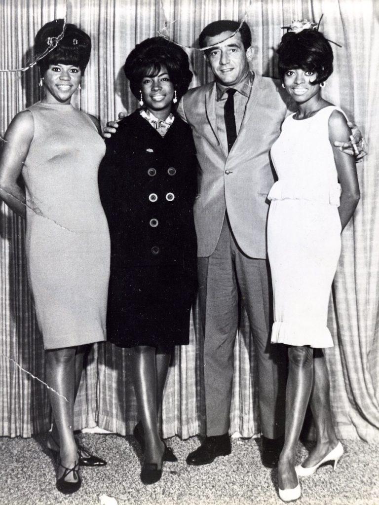 Paul R. Catalana with Safari Room performers The Supremes, September 17 - 26, 1965. Photograph provided courtesy of Lynn Catalana.