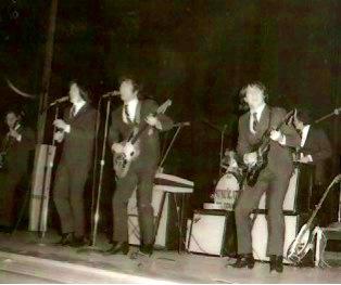 SOS at the San Jose Civic Auditorium, circa 1965. L-R Don Baskin, John Sharkey, Larry Ray
