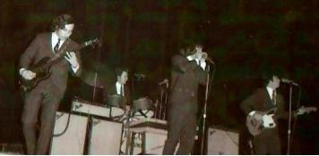 SOS at the San Jose Civic Auditorium, circa 1965. L-R Bob  Gonzalez, John Duckworth, Don Baskin, John Sharkey