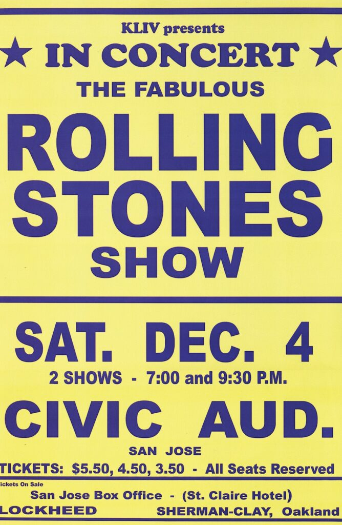 The Rolling Stones Poster Dec 4 1965