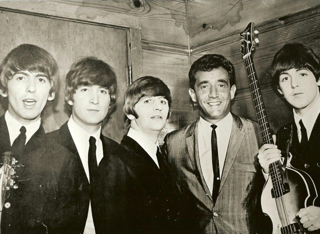 Paul R. Catalana with the Beatles, 1964. Photograph provided courtesy of Lynn Catalana.
