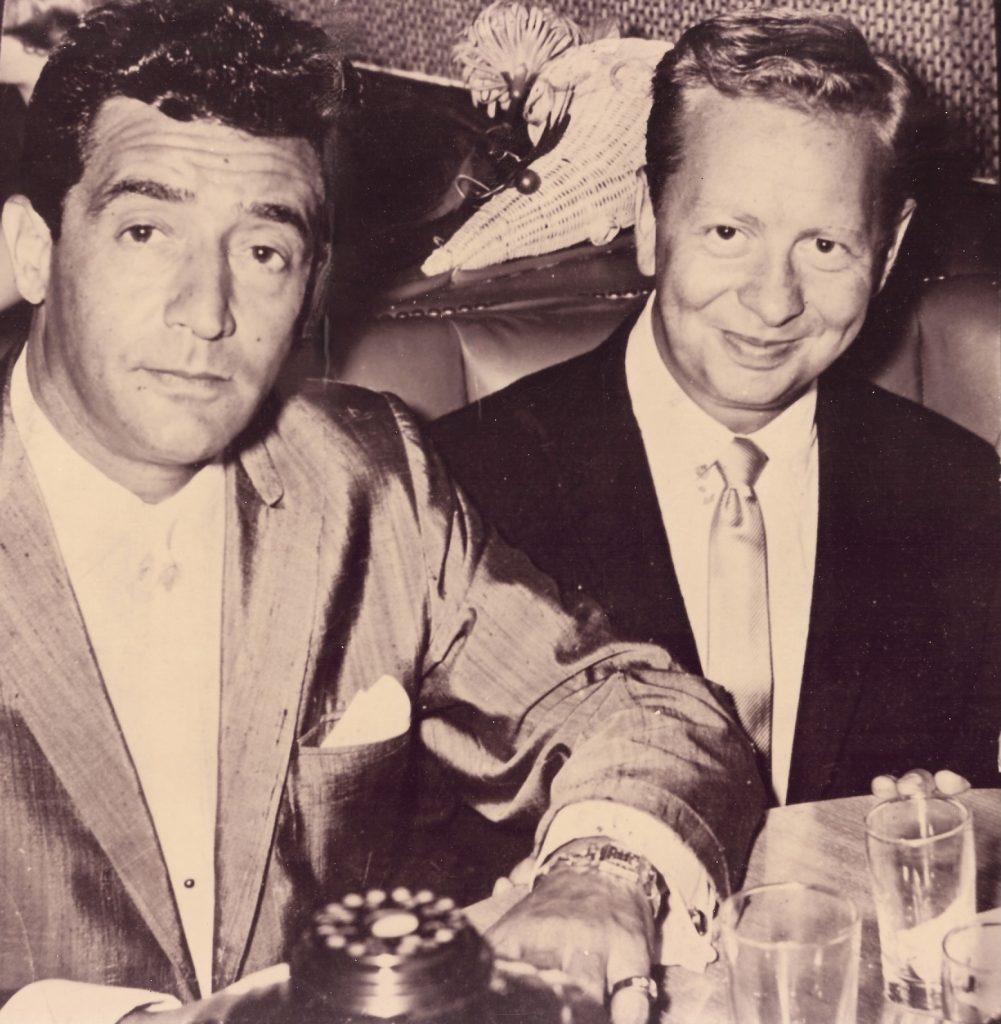 Paul R. Catalana with Mel Torme at the Safari Room, 1963. Photograph provided courtesy of Lynn Catalana.