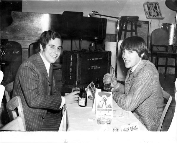 On Tour, NYC circa 1966. L_R Bob Gonzalez, Jim Sawyers