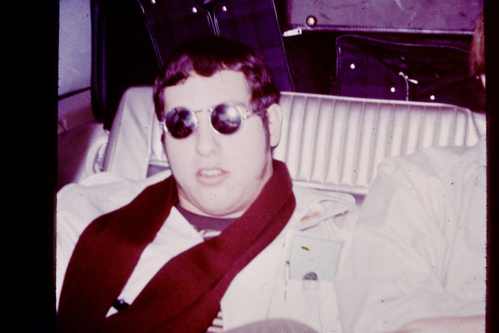 Bob Gonzalez, back stage, circa 1967.
