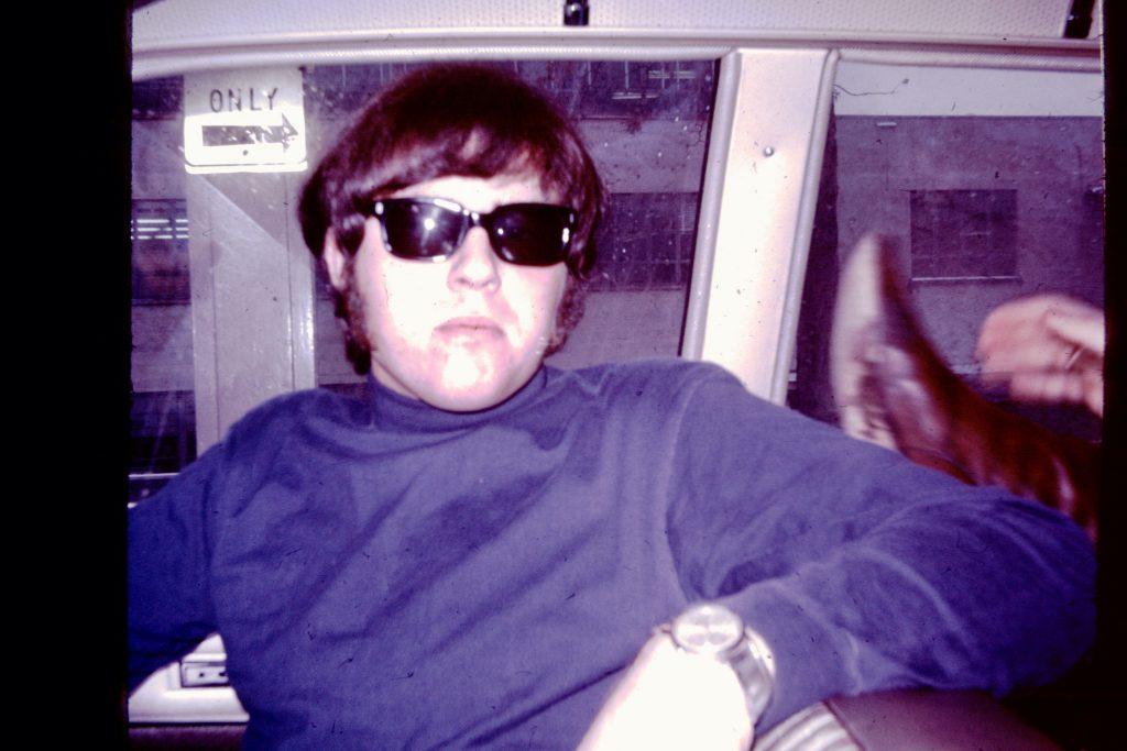 Don Baskin, on the road, circa 1967.