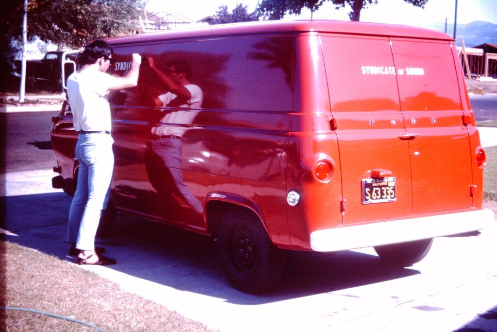 Kevin with SOS's road van.