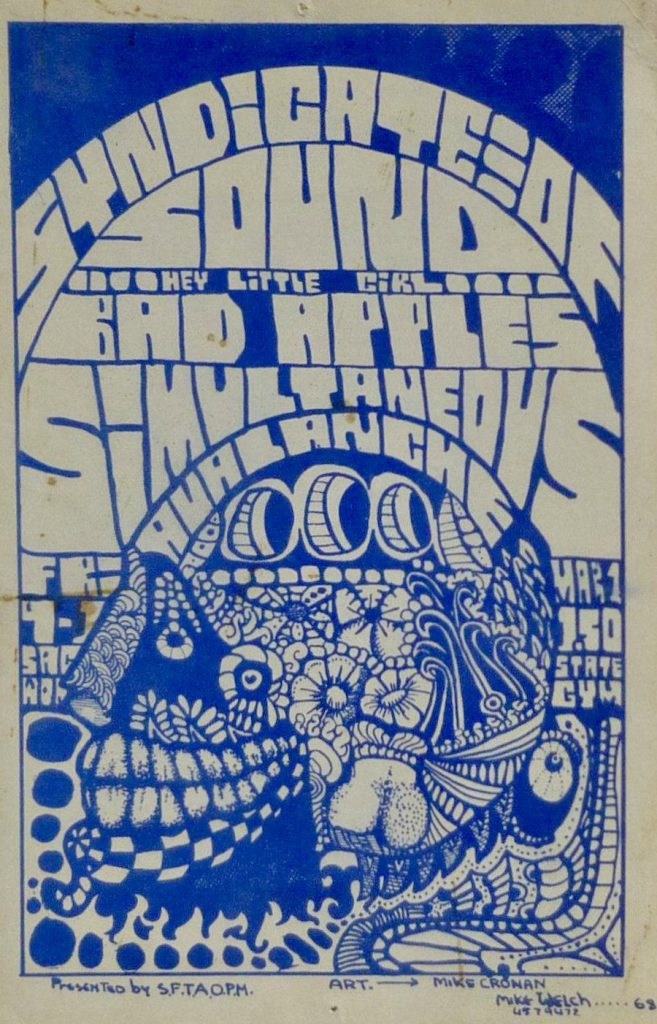 Synidicate Sound March 1, 1968 Hand Bill