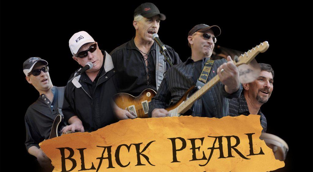 Great times with cover band Black Pearl. (L-R) Joe Castellano, Ritchie Pickett, Jim Salata, Joe Scuncio, me.