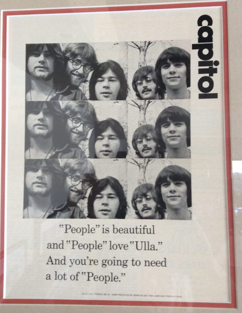 Promo for Peoples! single 'Ulla' 1969
