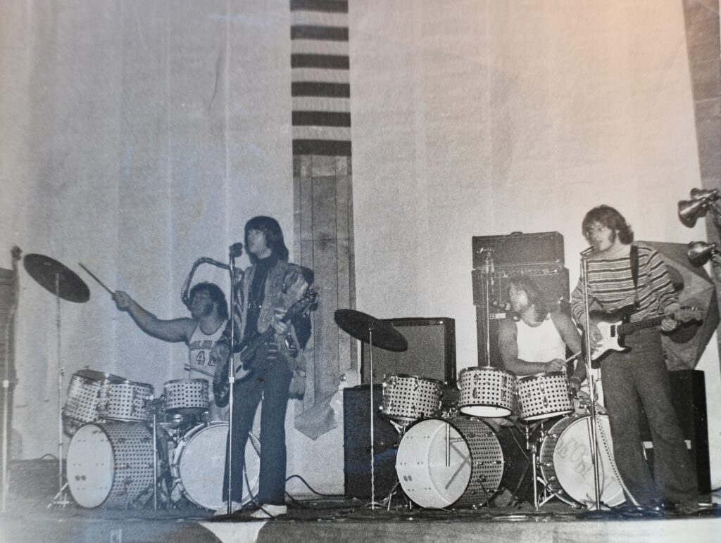 People! in Los Angeles. 1969.  John (left) and Denny on drums.