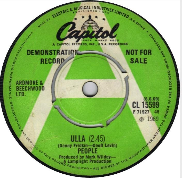 'Ulla' on Capitol Records, 1969.