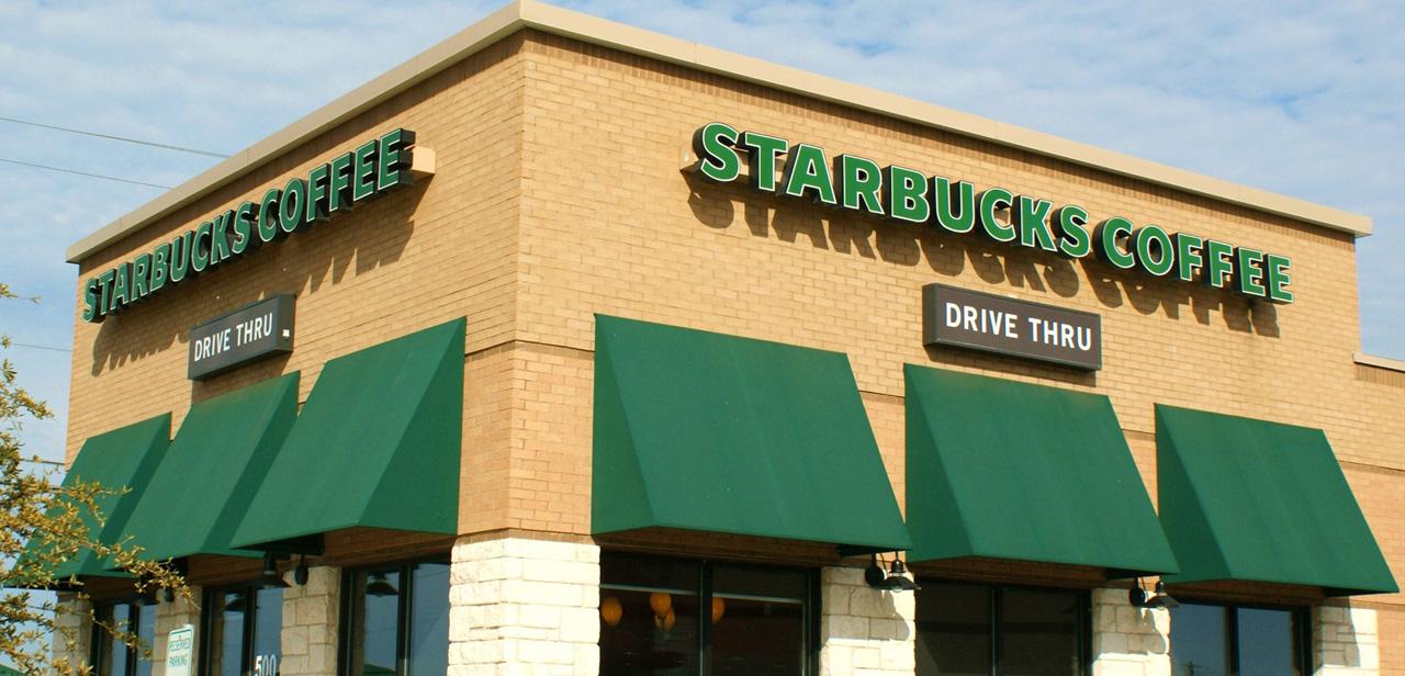 Starbucks awning