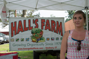 Hall Farm provides organic produce at the Simsbury Farmers Market