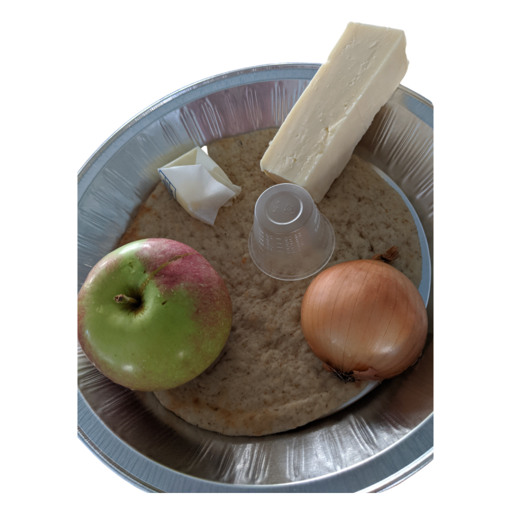Ingredients for Apple Cheddar Pizza