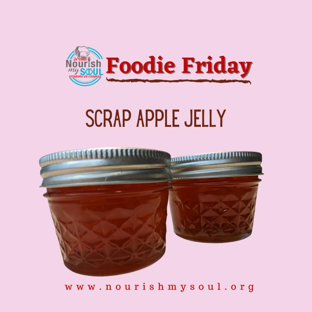 Scrap Apple Jelly jars with Nourish My Soul logo