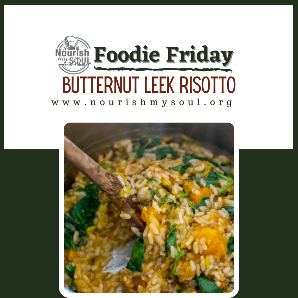 butternut leek risotto cooking in the instapot